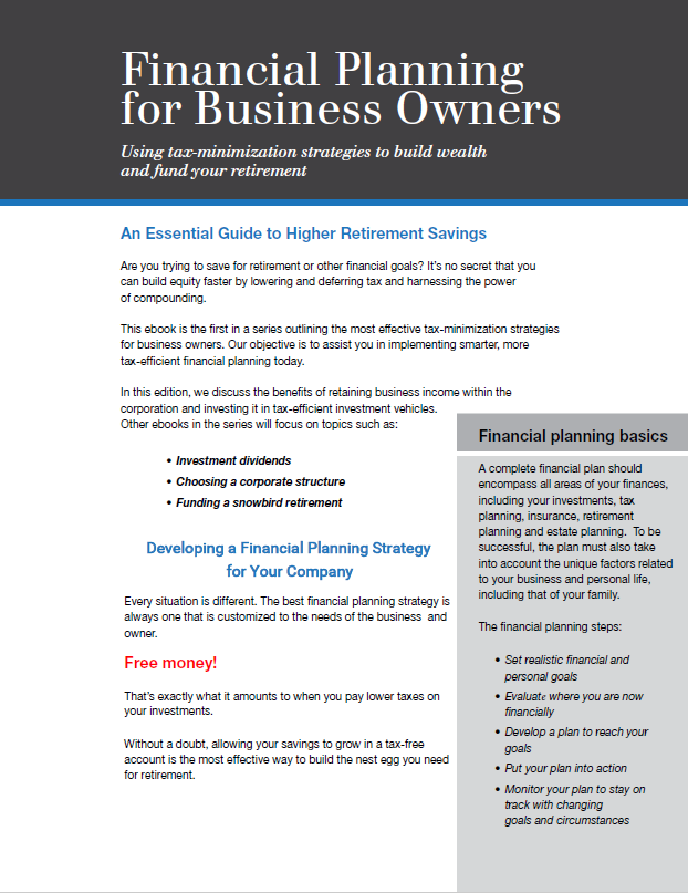 Ebook - Financial Planning for Business Owners